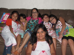My mom & the girls.