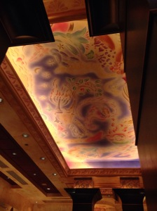 The ceiling at The Cheesecake Factory that I found intriguing.
