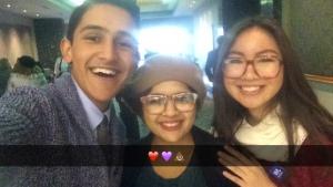 Javier, Kim, & I
