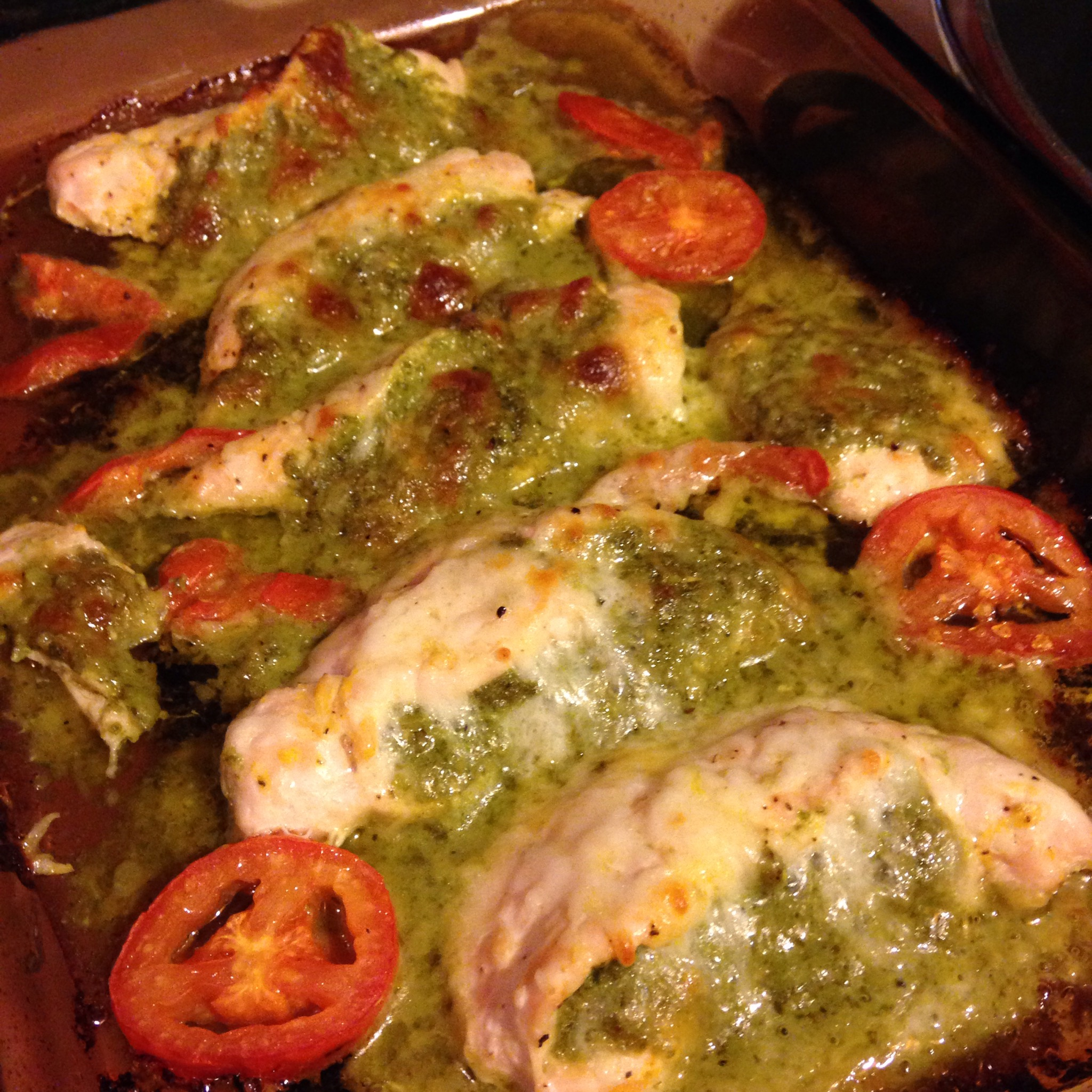Baked Chicken Stuffed With Pesto And Cheese Recipe — Dishmaps