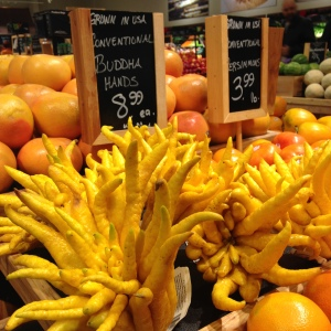 """""""Buddha Fingers,"""" (There are so many different fruits and vegetables that I never even knew existed before coming into this store.)"""