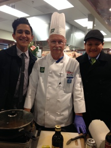 """Before leaving we were offered some samples and one of the chefs handling out samples happened to be wearing a, """"JW.org,"""" pin!"""