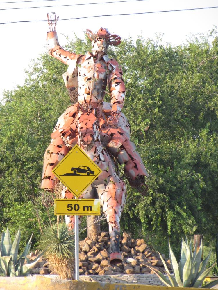 A statue in Coahuila.