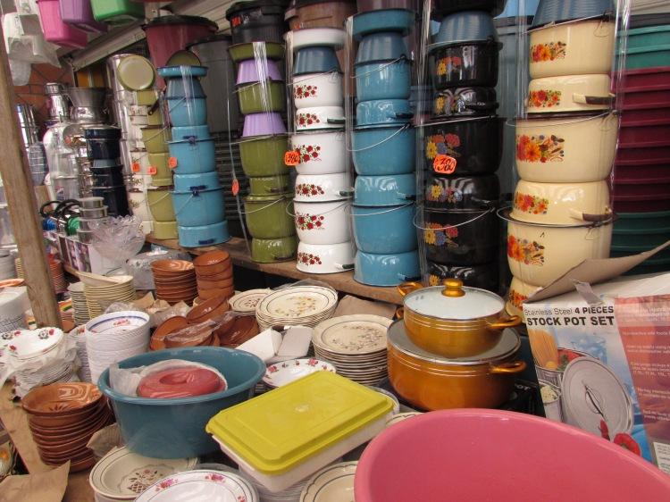 Pots & pans. (I brought a set home!)