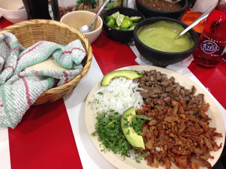 Carne Asada & Al Pastor tacos.