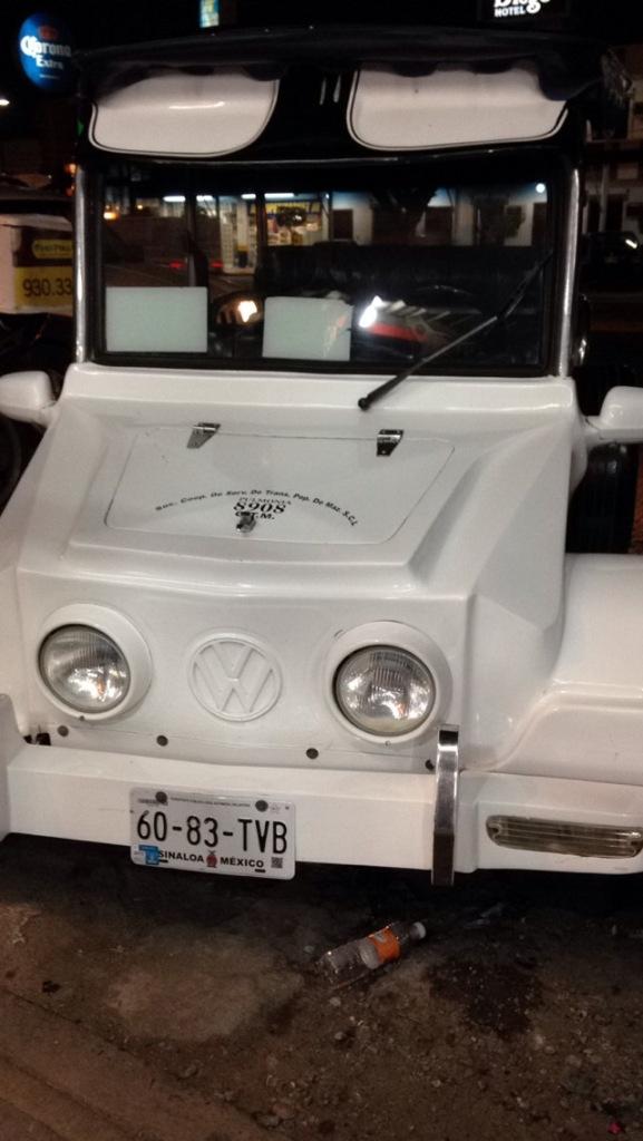 Taxis in Mazatlan.
