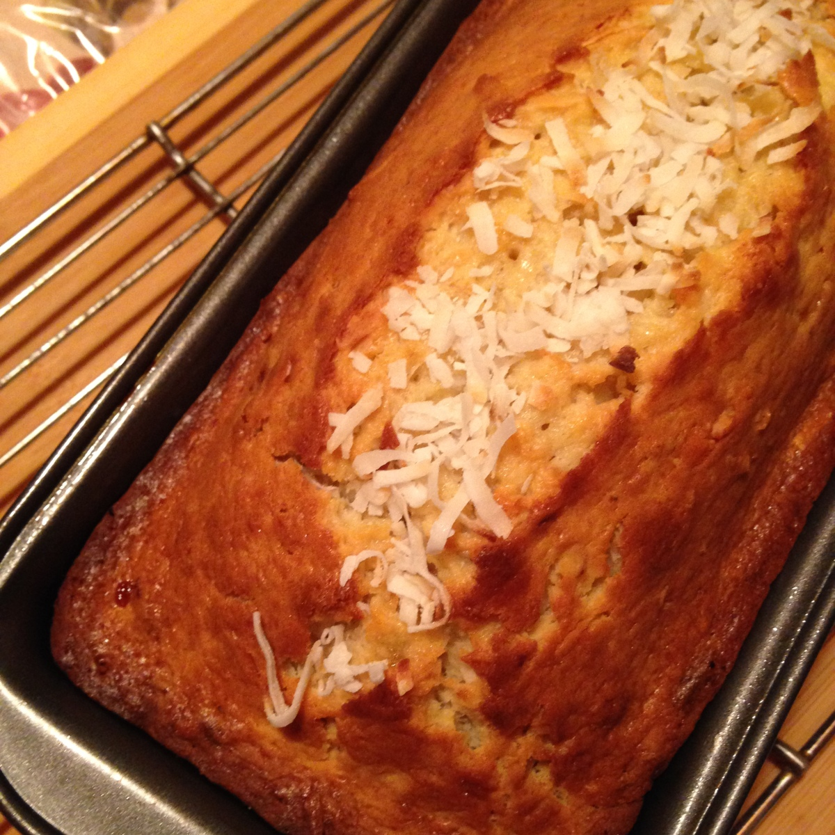 Banana Coconut Loaf Cake